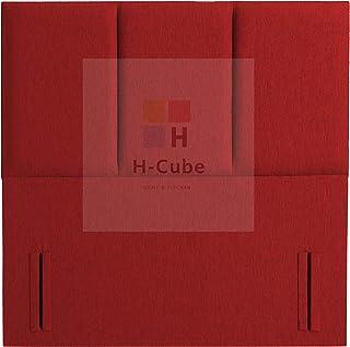 H-Cube meble Alton trójpanelowa wyściełana podstawa łóżka Divan zagłówek Turyn tkanina 140 cm seria stojąca (czerwony - 4F...