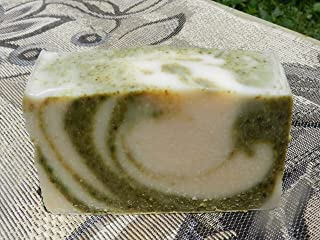 Cucumber and Mint Yogurt Soap with Spearmint and Peppermint Essential Oils Lard and Lye Bar Body Soap