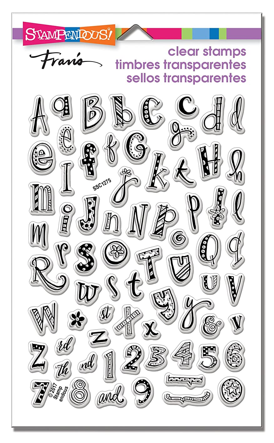 Stampendous SSC1275 Funky Alphabet Clear Stamp Set bkrmmlqzesz472
