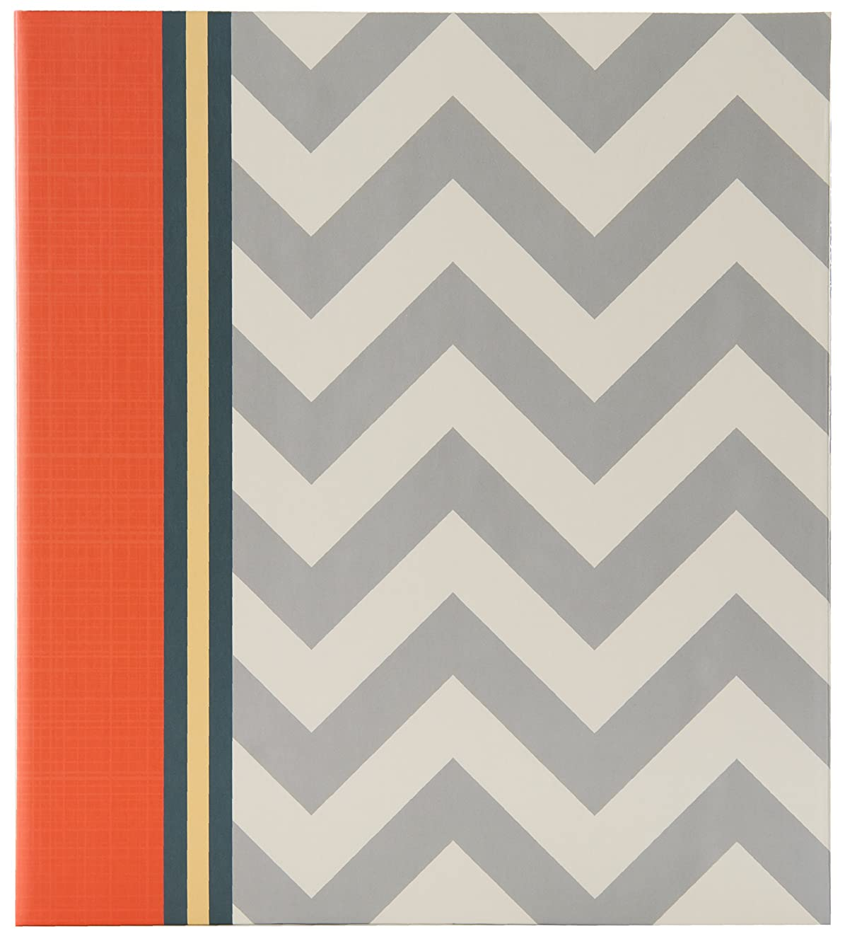 Pinnacle Frames and Accents Magnetic Chevron Album, Grey