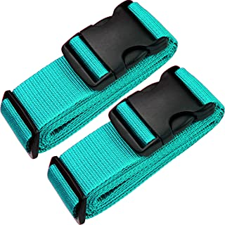 TRANVERS 79 Inch Heavy Duty Luggage Straps for Suitcase with ID Label Adjustable