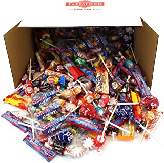 LaetaFood Box, Halloween Candy Assortment - Tootsie Pops, Jolly Ranchers Lollipops, Smarties Rolls, Wonka Laffy Taffy, Now Later, Starburst, SweeTarts, Dubble Bubble Bubble Yum (10 Lbs Bulk )