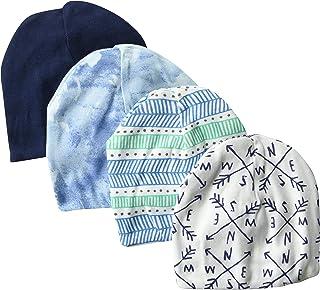 HonestBaby 4-Pack Organic Cotton Reversible Beanie Hats