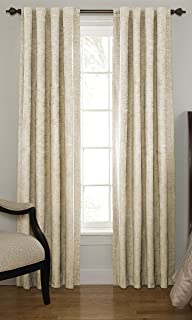 Beautyrest 11239042X095IV Chenille 42-Inch by 95-Inch Rod Pocket Single Window Curtain Panel, Ivory