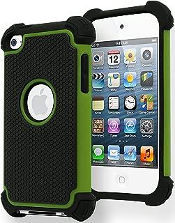 Bastex Hybrid Armor Case for Apple iPod Touch 4, 4th Generation - Green & Black