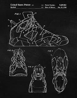 Original Nike Air Jordan 6 Shoes Patent Poster Prints, Set of 1 (11x14) Unframed Photo, Wall Art Decor Gifts Under 15 for Home, Office, Garage, Man Cave, College Student, Teacher, Sports & NBA Fan