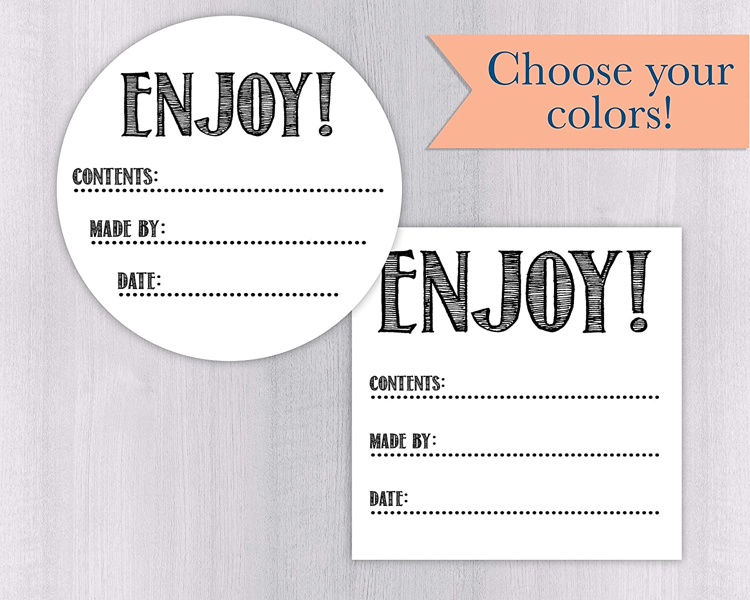 Enjoy White Matte Canning #139-MT-WH Wholesale Labels Stickers Fees free!! Favor