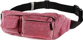 SoJourner Bags Men's 2-Pocket Fanny Pack Hip Bag One Size Red