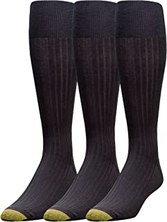 Gold Toe Men's Big and Tall Canterbury Over The Calf Extended 3 Pack