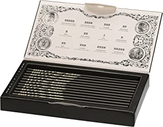 Faber-Castell 211817 - Estuche de colección edición limitada con 12 lápices Polygrade con distintos grados de dureza (5B - 5H)