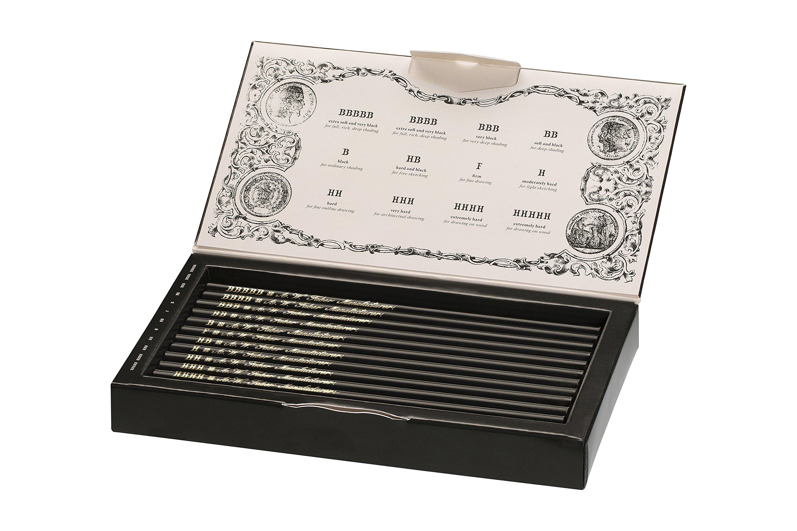 Faber-Castell 211817 - Estuche de colección edición limitada con 12 lápices Polygrade con distintos grados de dureza (5B - 5H): Amazon.es: Oficina y papelería