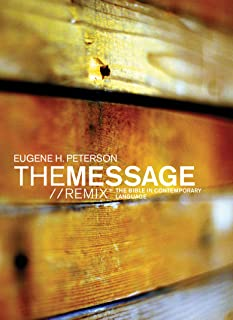 The Message//REMIX (Softcover, Wood): The Bible in Contemporary Language
