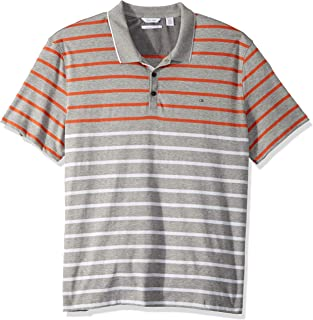 Calvin Klein Mens Liquid Touch Polo Stripe with Uv Protection