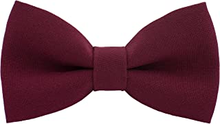 Dark Red Bow Tie for Boys Girls Cute Dark Red Bowtie Expands Our Color Line - Fabric Colored Adjustable Pretied Unisex Red Clip on Bowties - shop Bow Tie House (Medium, Dark Red)