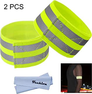 featured product Techion Reflective Fabric Wristband Armband Ankle Bands with Two Reflective Strips for Cycling/Biking/Walking/Jogging/Running Gear and Outdoor Sports