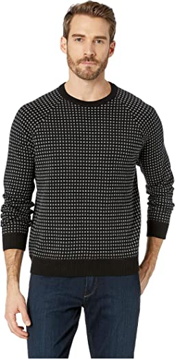 Long Sleeve Alternative City Grid Raglan Sweater