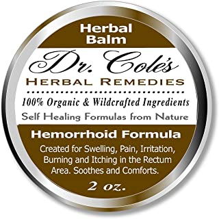 Dr. Cole's Hemorrhoid Treatment. Organic Herbal Ointment for Hemorrhoid Relief. Natural Remedy for all type...