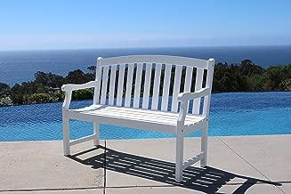Vifah V1629 Bradley Outdoor Furniture, White-Painted
