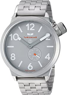 Vestal 'Canteen Metal' Quartz Stainless Steel Casual Watch, Color Silver-Toned (Model: CNT453M09.5SVM)