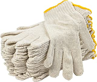 24 Pack Beige String Knit Gloves 10