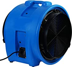 "MOUNTO 1HP 5000CFM 16"" Axial Blower Exhaust Fan Confined Space Blower (Blue)"
