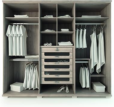 Manhattan Comfort Chelsea 6-Door Wardrobe, White Gloss