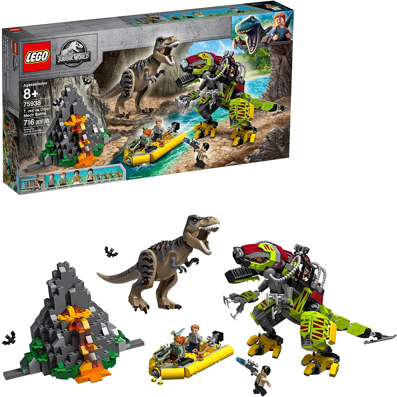 rex vs Dino-Mech Battle Lego 1x Sticker Autocollant Jurassic World Park 75938 T