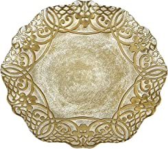 Red Pomegranate Geneve Dinner Plate Gold 11-Inch
