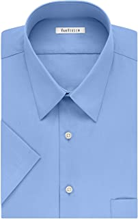 Van Heusen Men's BIG FIT Short Sleeve Dress Shirts Poplin...