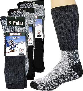 Calcetines térmicos de lana merina, para hombres y mujeres, para clima frío, extra cálido, para botas de invierno, por Deb...