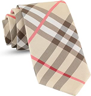 Luther Pike Seattle Handmade Plaid Ties For Men Woven Gingham Mens: Tie & Necktie, Neckties Wedding Business