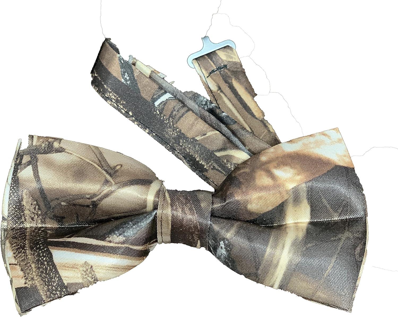 Mens Camo Wedding Bow Tie, Realtree Max 4