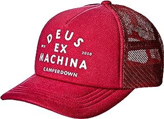 Deus Ex Machina Men's Austin Camperdown Trucker Cap Mesh Red