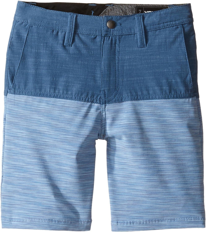 Volcom Kids Baby Boy 's Frickin SNT Block Shorts ( Toddler / Little Kids ) Smokey Blue Large 13.5
