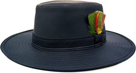 L/éger pour Homme Fenside Country Clothing Chapeau de Soleil Bushman de Style Australien avec Grille da/ération