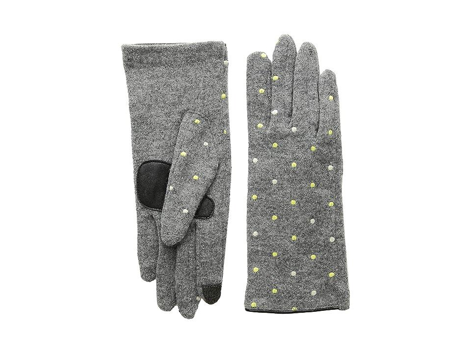 Echo Design Dot Dot Gloves (Heather Grey) Extreme Cold Weather Gloves