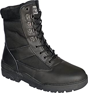 Savage Island Combat Boots Black Leather Patrol
