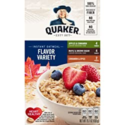Quaker Instant Oatmeal, Variety Pack, 10 ct