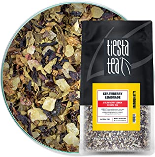 Tiesta Tea Tiesta Tea - Strawberry Lemonade, Loose Leaf Strawberry Lemon Herbal Tea - 50 Cups, Natural Flavors, Strawberry...
