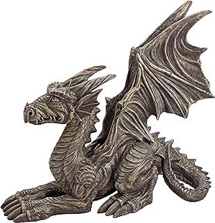 Design Toscano Desmond the Dragon Gothic Decor Statue, 16 Inch, Greystone