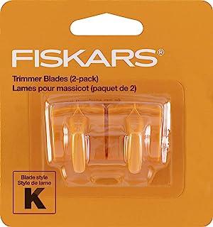 Fiskars 177500-1001 Fiskars Reinforced Trimmer Blades (2 Pack), Packaging May Vary, Orange