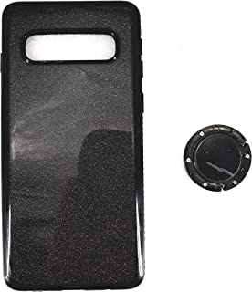 جراب جوال X فاخر لهاتف سامسونج جلاكسي S10 لون أسود