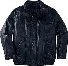 KingSize Men's Big & Tall Leather Bomber Jacket