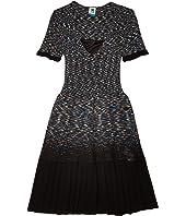 Short Sleeve Space Dye Short Dress