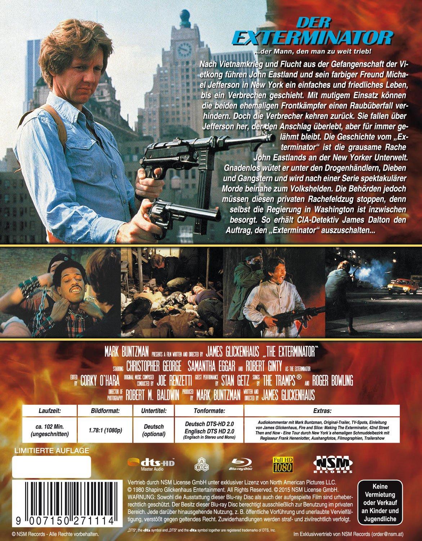 Der Exterminator   Uncut   Hartbox Cover B [Blu ray] limitiert auf ...