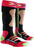 X-Socks Kinder SKI JUNIOR Strumpf, Coral/Green, 35/38