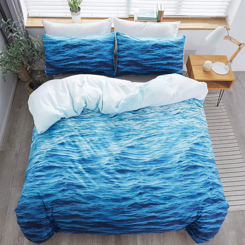 LAMEJOR Now on sale 3D Ocean Duvet Cover Set L Size Waves King Pattern Hotel Baltimore Mall