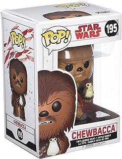 Funko- Pop Bobble-Star Wars-E8 TLJ-Chewbacca with PORG, 14748