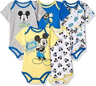 Baby Boys' Mickey 5 Pack Bodysuits