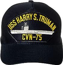 United States Navy USS Harry S. Truman CVN-75 Aircraft Carrier Ship Emblem Patch Hat Navy Blue Baseball Cap